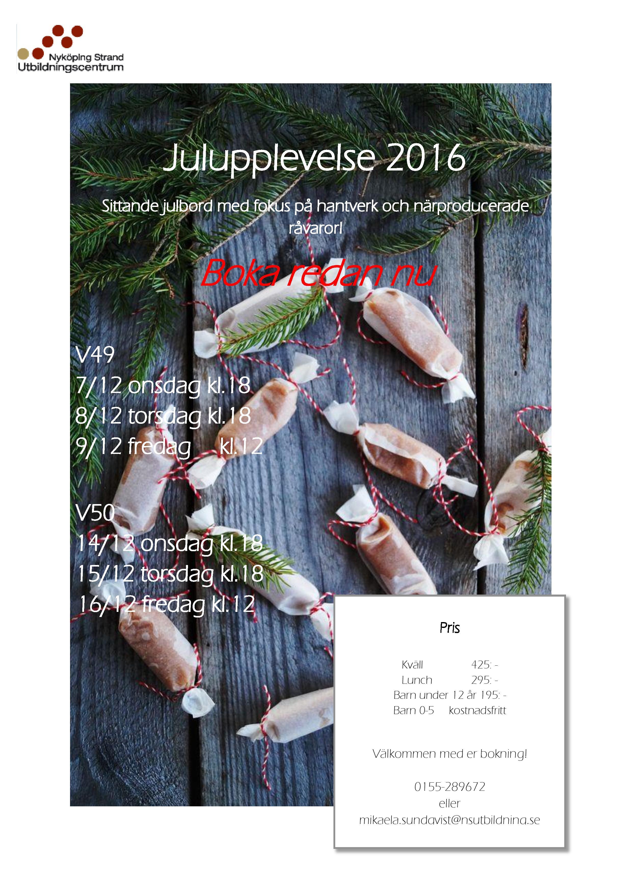 Dags att boka julupplevelse 2016