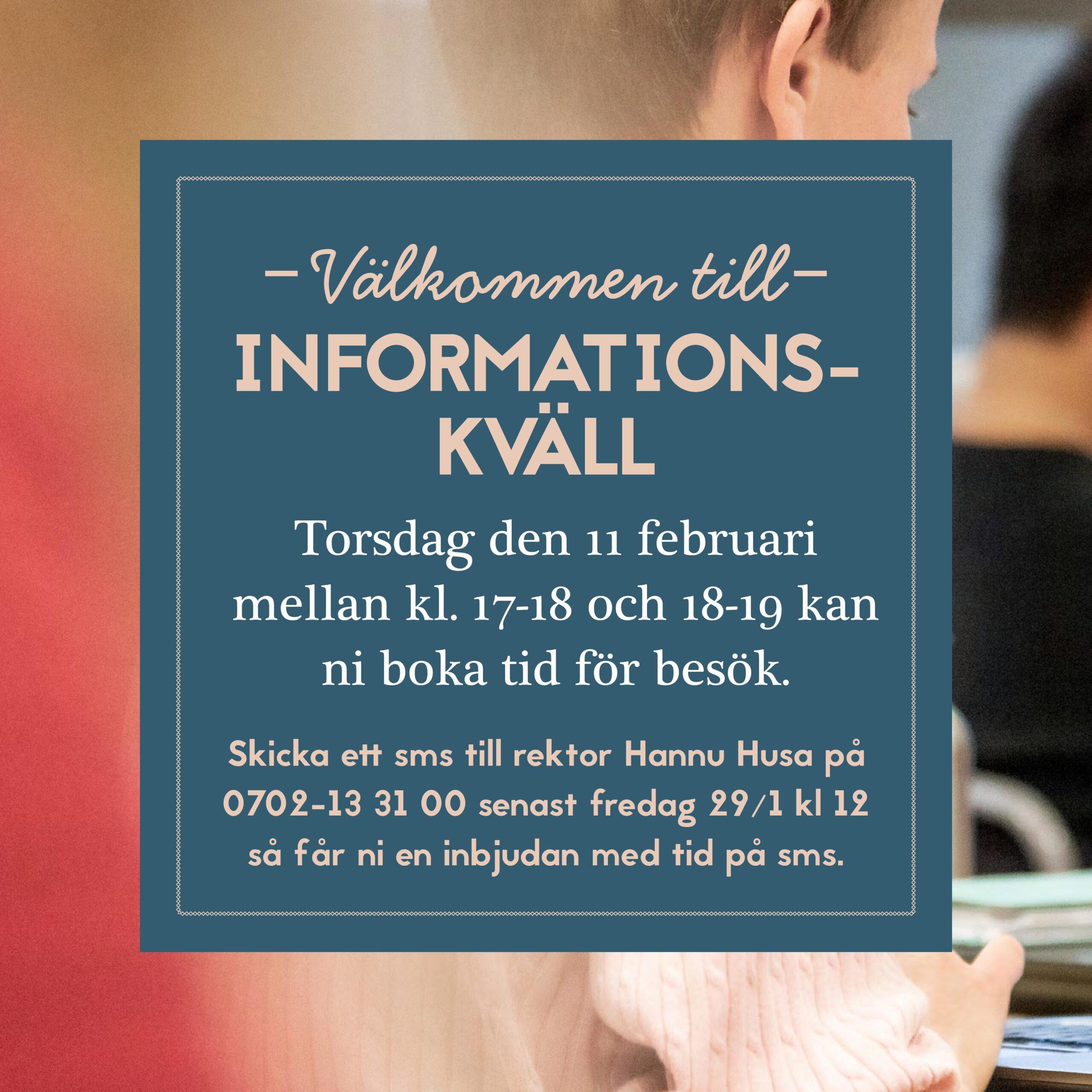 Informationskväll 11 februari